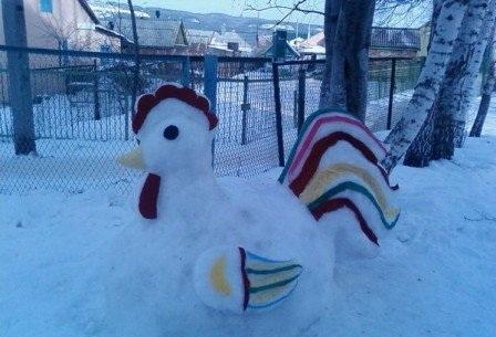 Как сделать поделку из снега