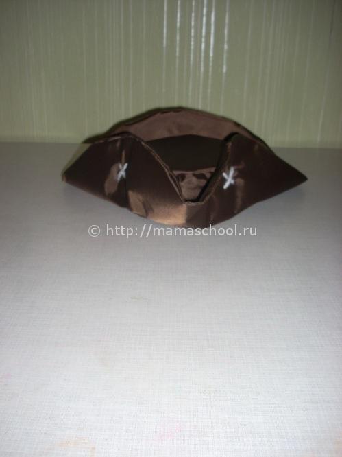 шляпа пирата из картона и ткани мастер-класс