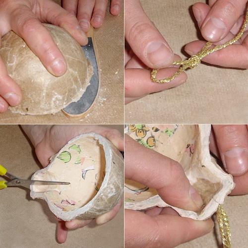 Как из клея сделать папье маше шар