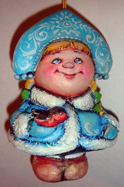 Папье-маше новогодняя игрушка своими руками