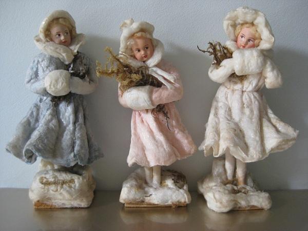 Елочные игрушки из ваты своими руками мастер